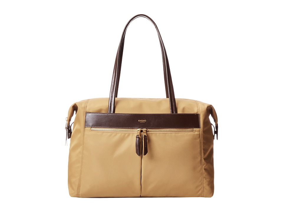 KNOMO London - Curzon Laptop Shoulder Tote (Khaki) Tote Handbags