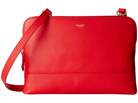 KNOMO London - Davies Leather Crossbody Bag (Red) Cross Body Handbags