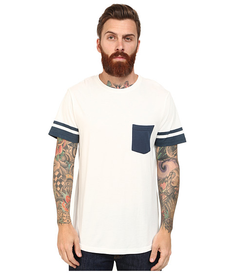 Alternative - Cotton Modal Pocket Crew (Ink Blue Blocking) Men