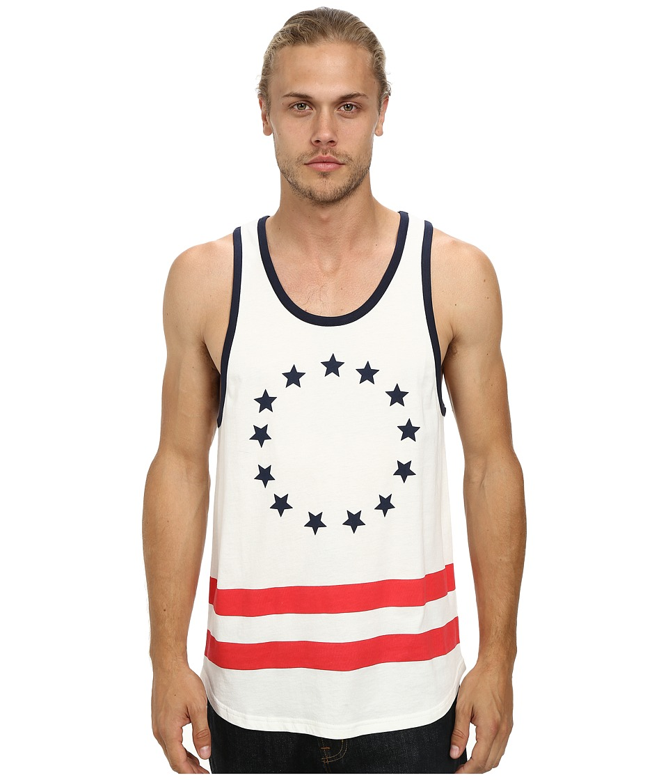 Alternative - Cotton Modal Tank Top (White Old Glory) Men's Sleeveless