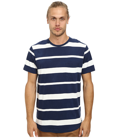 Alternative - Cotton Modal Pocket Crew (Midnight Bold Lines) Men