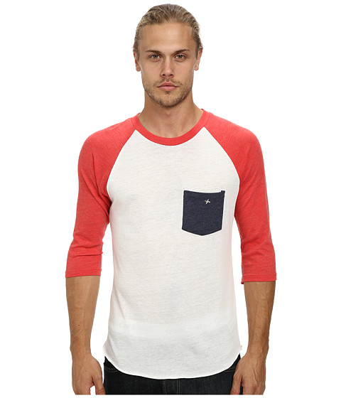 Alternative - Eco Jersey Pocket Baseball Tee (Eco Ivory Constellation Pocket) Men's T Shirt