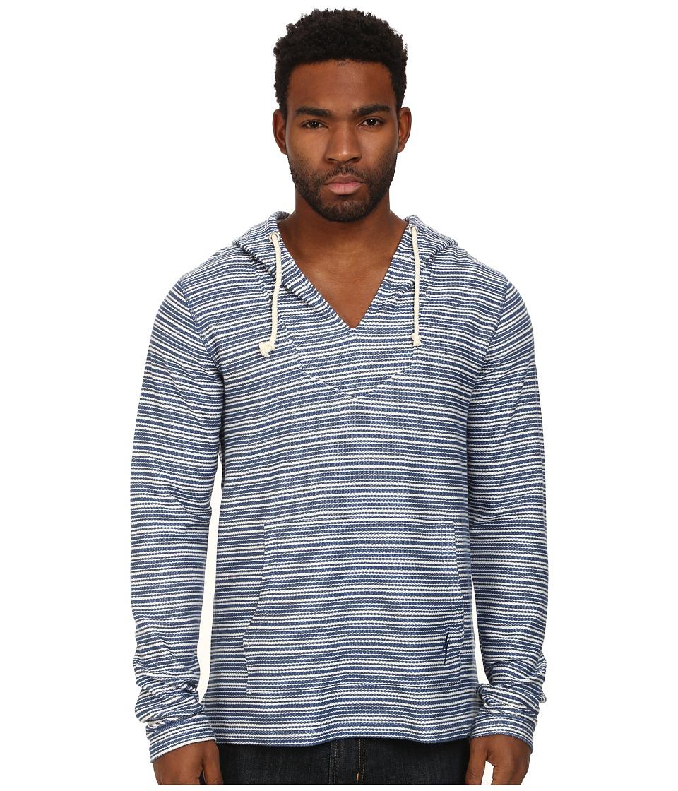 Lightning Bolt - Rug Poncho (Federal Blue) Men's Sweatshirt