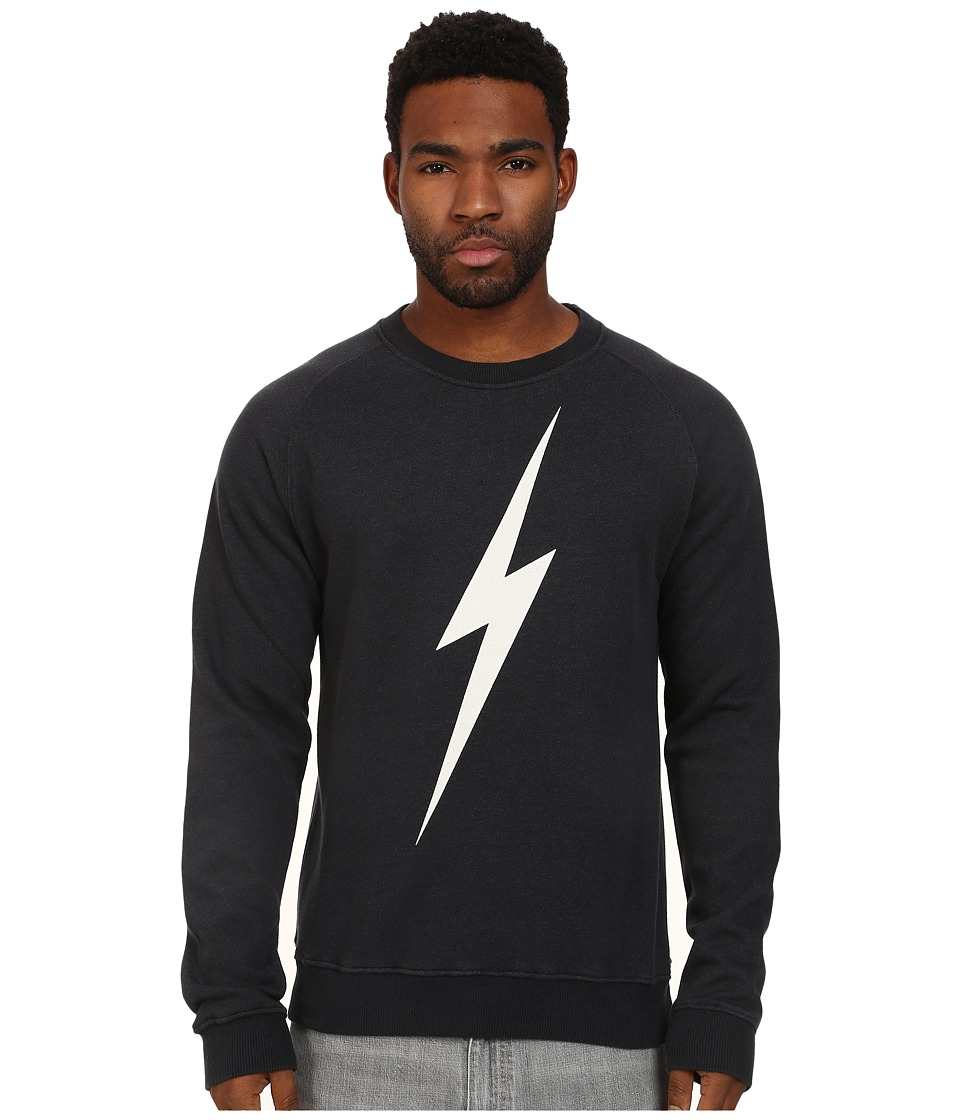 Lightning Bolt - Forever Triblend Crew (Moonless Night) Men's Sweatshirt