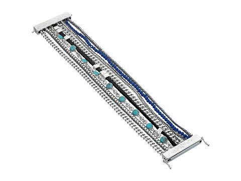 Lucky Brand - Navy Multi Strap Bracelet (Silver) Bracelet