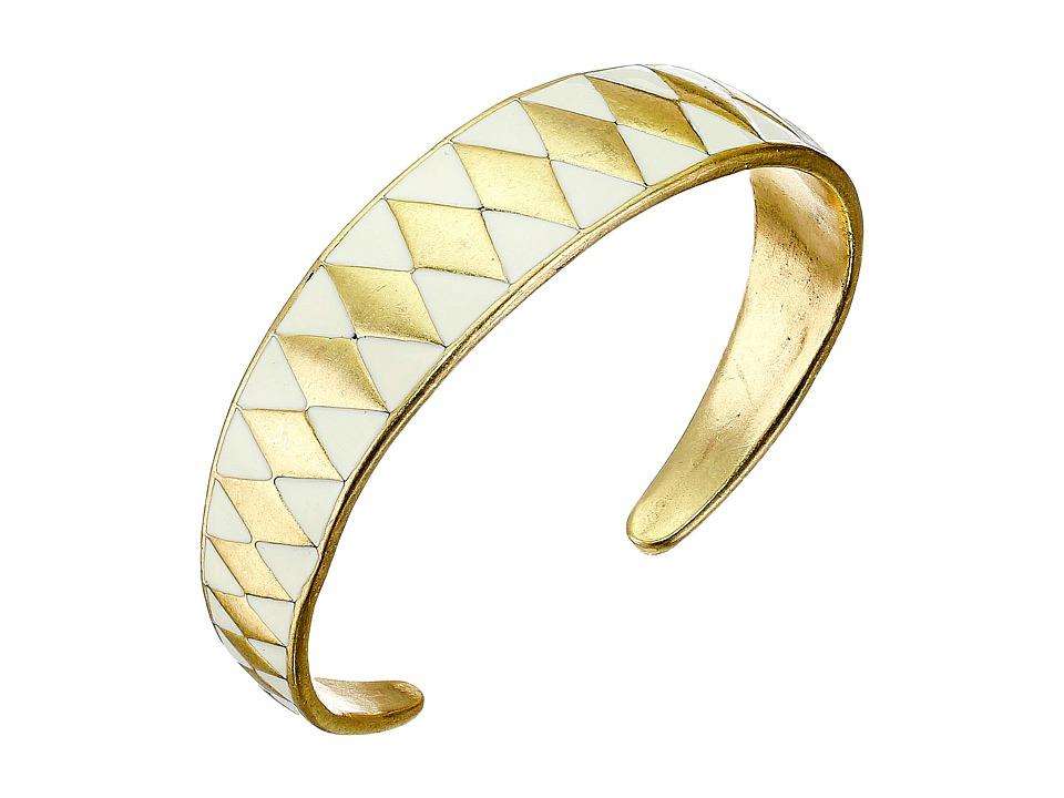 Lucky Brand - Gold Enamel Cuff Bracelet (Gold) Bracelet