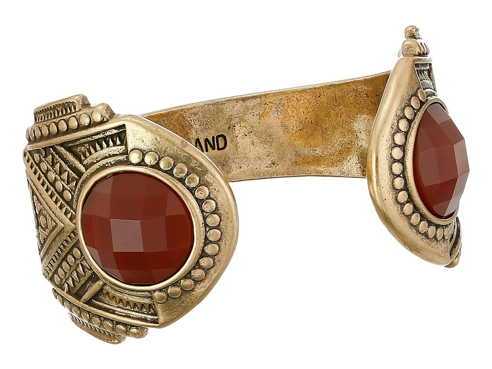 Lucky Brand - Gold and Red Gem Cuff Bracelet (Gold) Bracelet