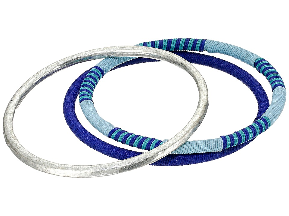 Lucky Brand - Navy Bracelet Set (Silver) Bracelet