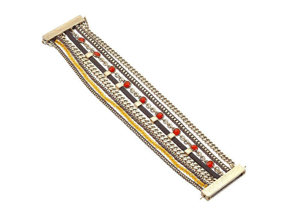 Lucky Brand - Gold Multi Strap Bracelet (Gold) Bracelet