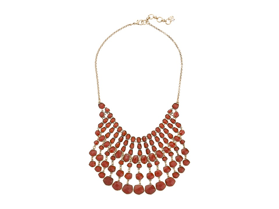 Lucky Brand - Red Statement Necklace (Gold) Necklace