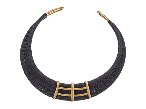 Lucky Brand - Cord Wrapped Choker Necklace (Gold) Necklace