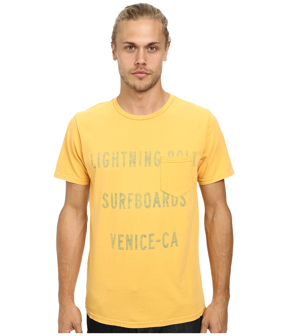 Lightning Bolt - Venice Shop Pocket Tee (Beeswax) Men's T Shirt