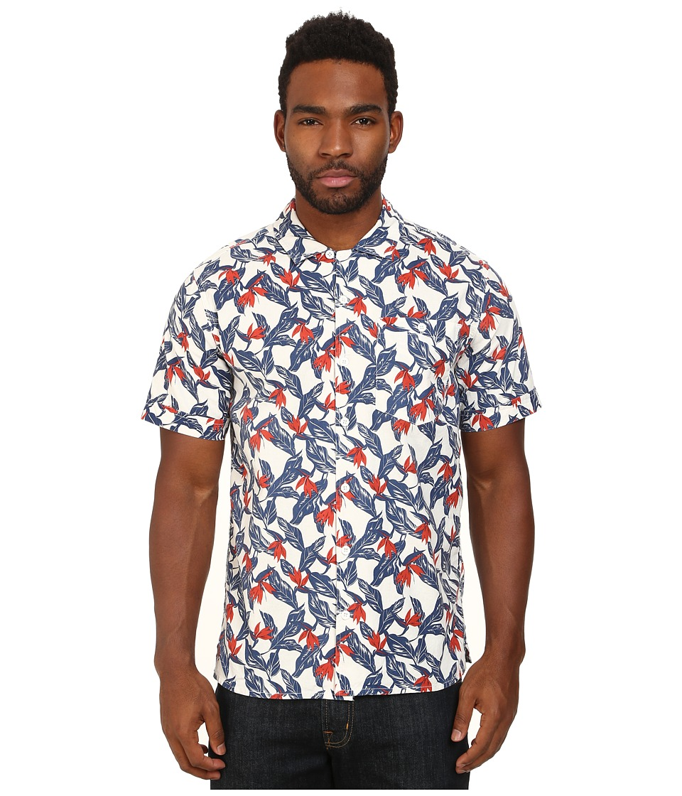 Lightning Bolt - Printed Shirt (Egret) Men's Clothing