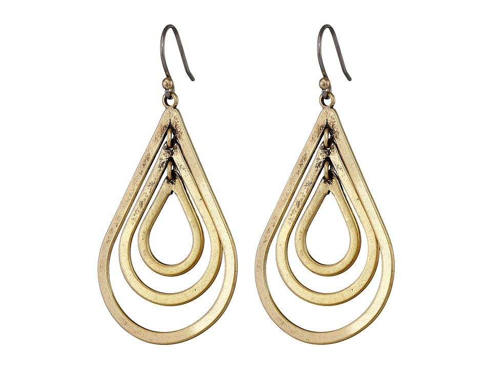 Lucky Brand - Multi Hoop Earrings (Gold) Earring