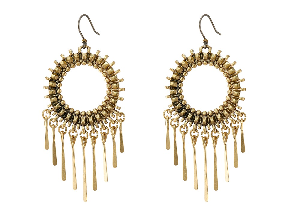 Lucky Brand - Circle Statement Earrings (Gold) Earring