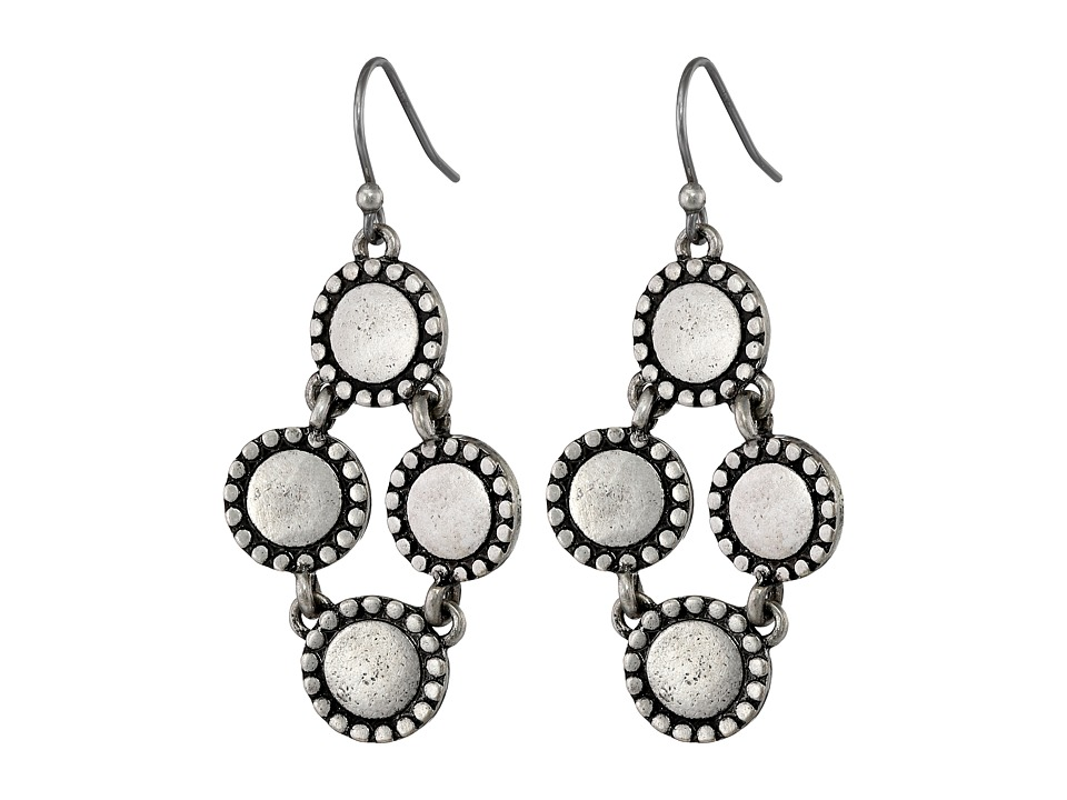 Lucky Brand - Diamond Drop Earrings (Silver) Earring