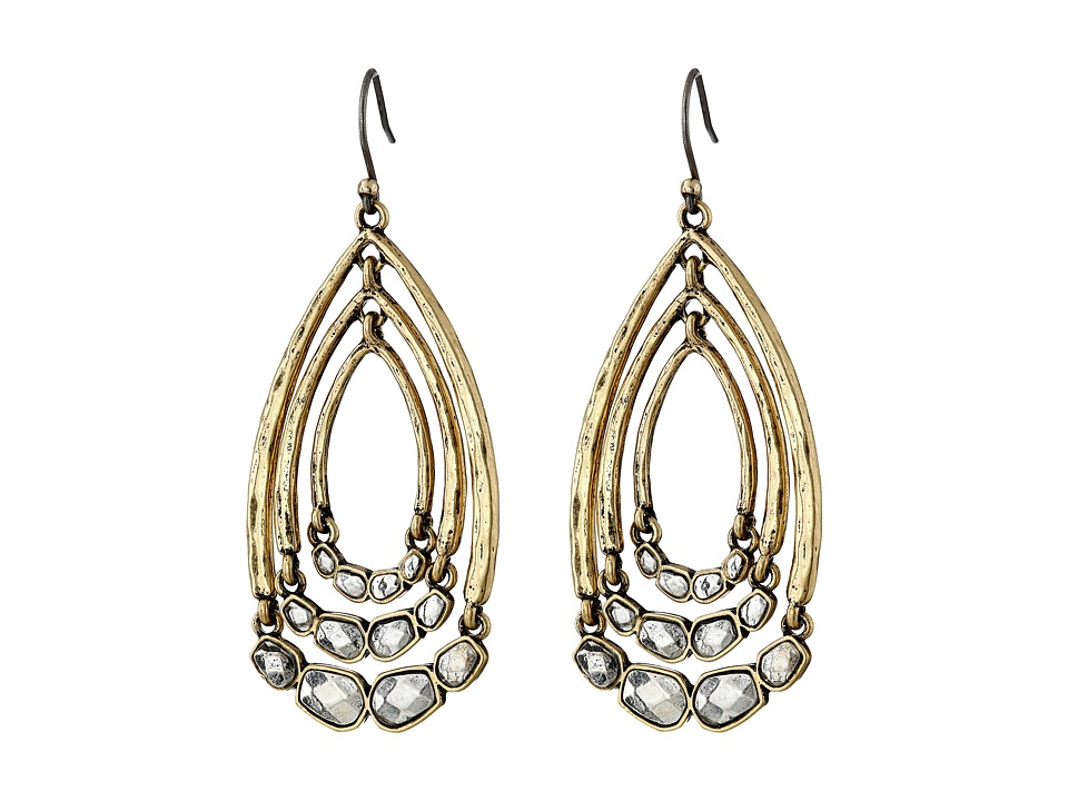 Lucky Brand - Two-Tone Multi Hoop Drop Earrings (Two-Tone) Earring