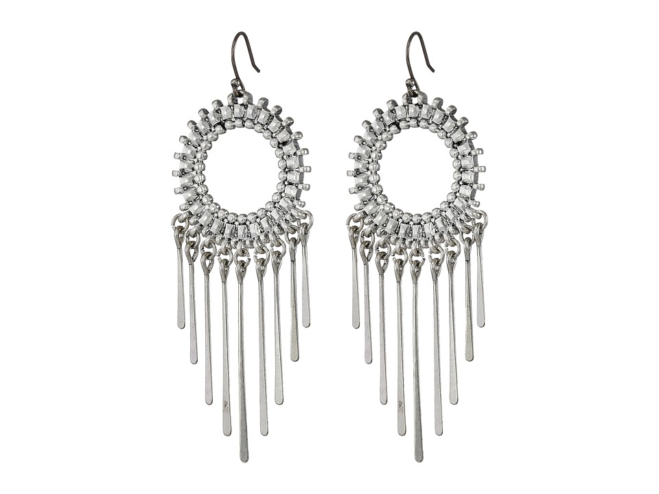 Lucky Brand - Circle Statement Earrings (Silver) Earring