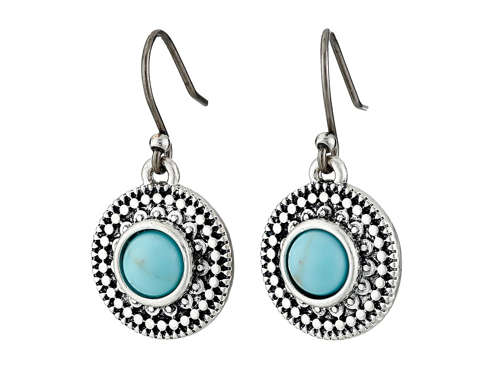 Lucky Brand - Turquoise Drop Earrings (Silver) Earring