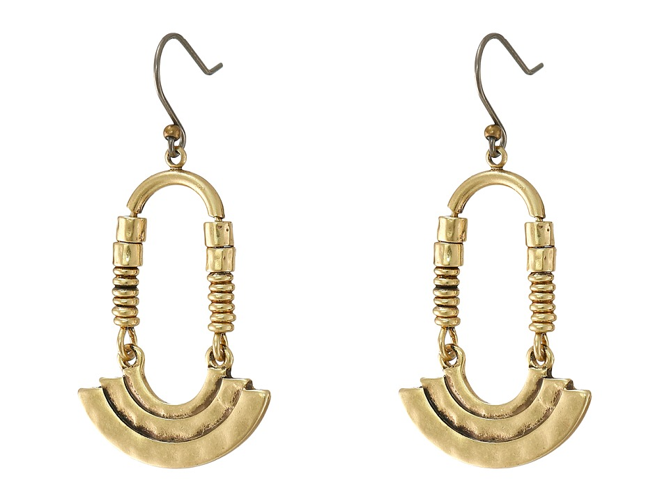 Lucky Brand - Modern Ring Earrings (Gold) Earring