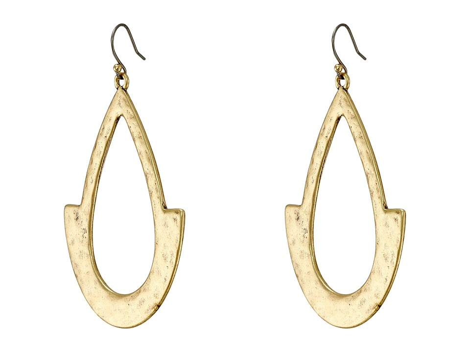 Lucky Brand - Oblong Hoop Earrings (Gold) Earring