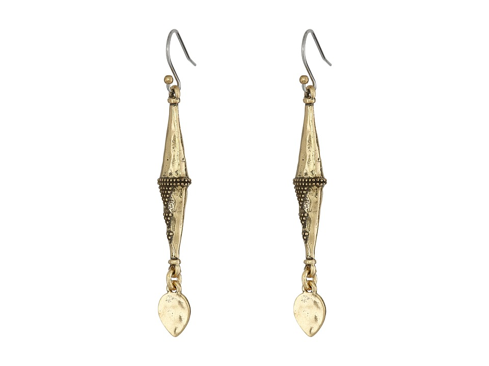 Lucky Brand - Geo Drop Earrings (Gold) Earring