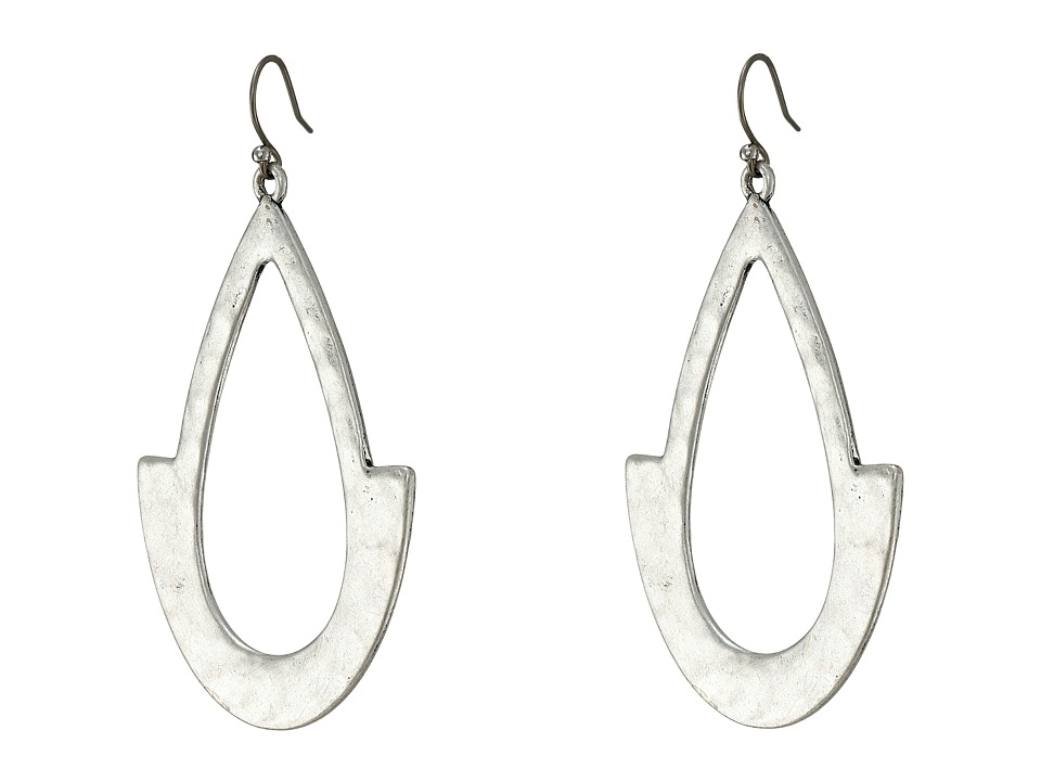 Lucky Brand - Oblong Hoop Earrings (Silver) Earring