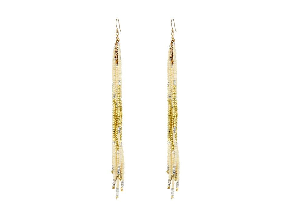 Lucky Brand - Linear Beaded Earrings (Two-Tone) Earring