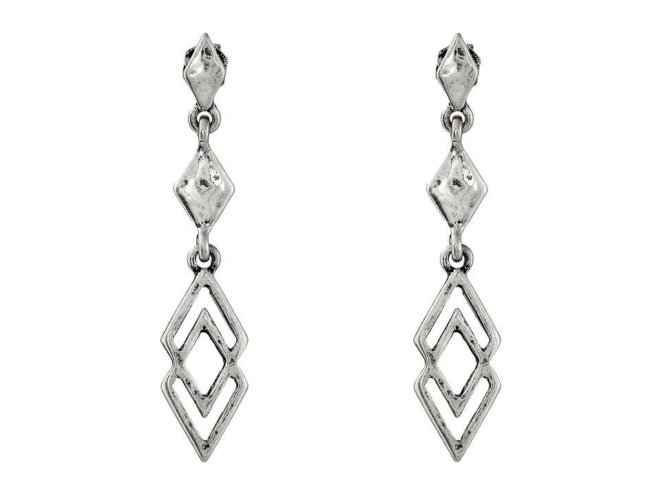 Lucky Brand - Geo Linear Earrings (Silver) Earring