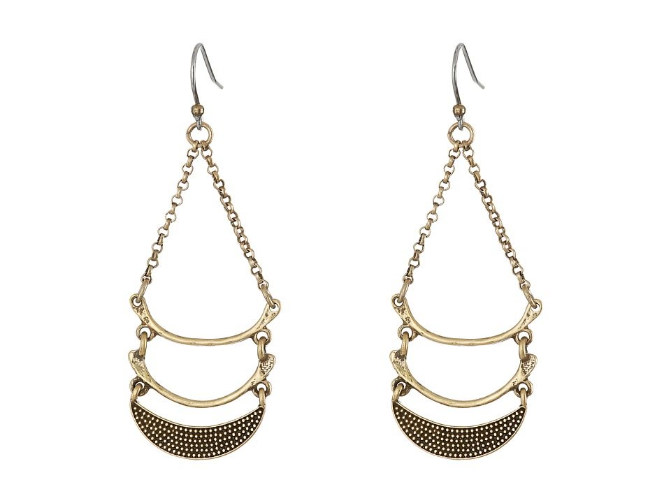 Lucky Brand - Half Moon Drop Earrings (Gold) Earring
