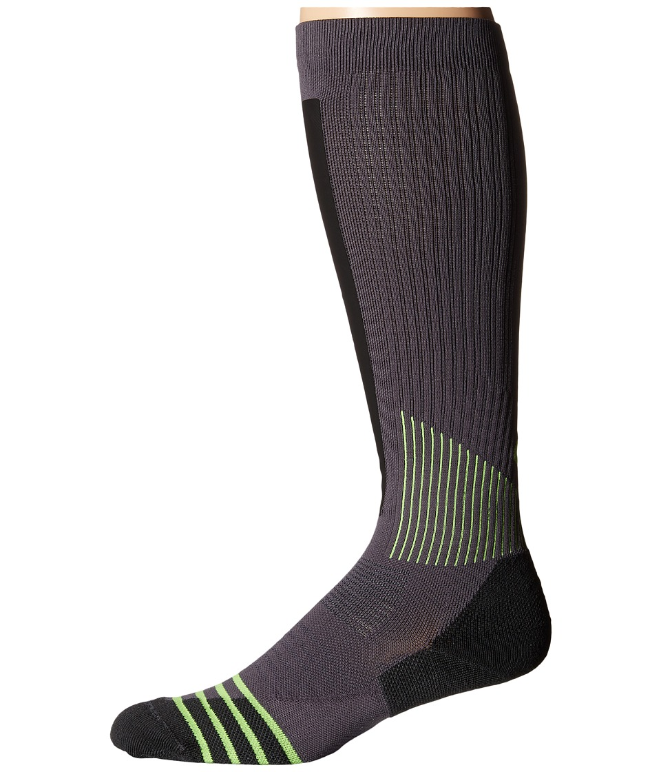 Nike - Dri-Fit High Intensity Over The Calf (Dark Grey/Volt/Volt) Men's Knee High Socks Shoes