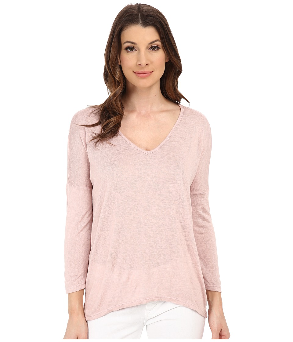 Velvet by Graham & Spencer - Belina Knit 3/4 Sleeve Top (Cerise) Women's Short Sleeve Pullover