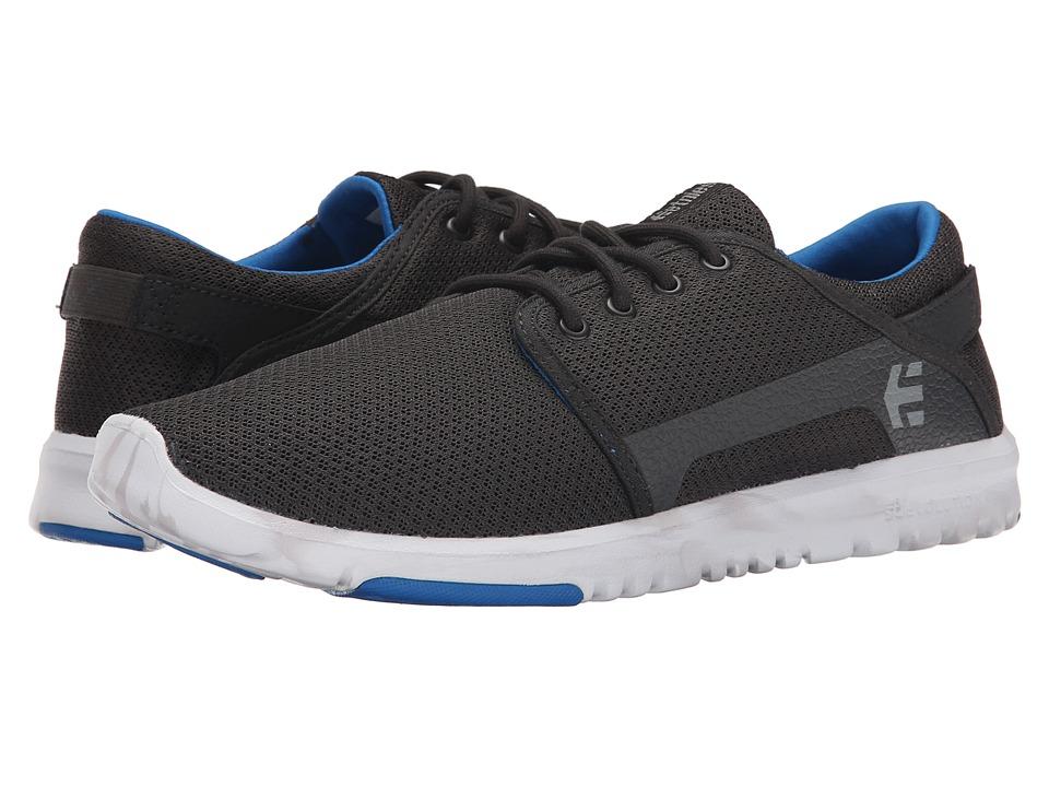 etnies - Scout (Black/Blue) Men's Skate Shoes