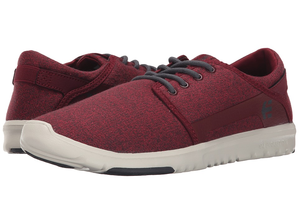 etnies - Scout (Burgundy/White) Men's Skate Shoes