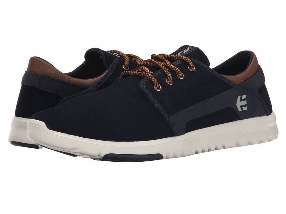 etnies - Scout (Navy/Brown/White) Men's Skate Shoes