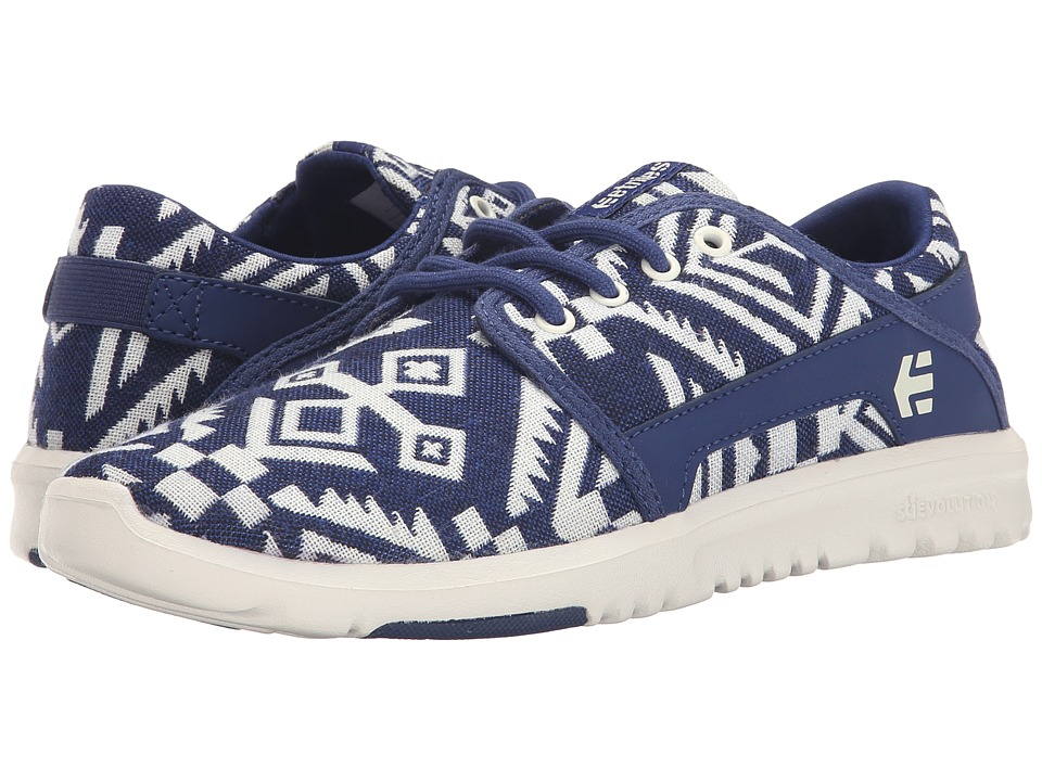 etnies - Scout W (White/Blue) Women's Skate Shoes