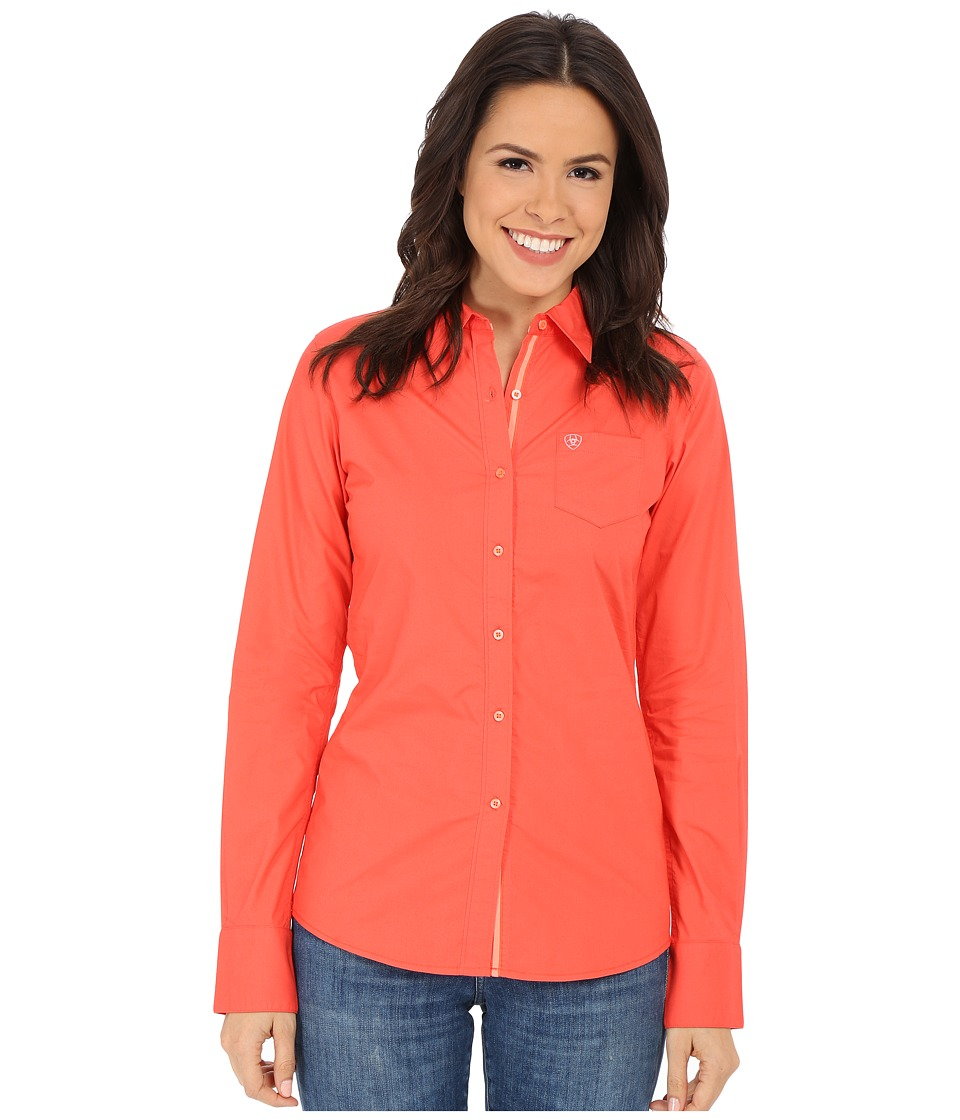 Ariat - Kirby Shirt (Red Coral) Women's Long Sleeve Button Up