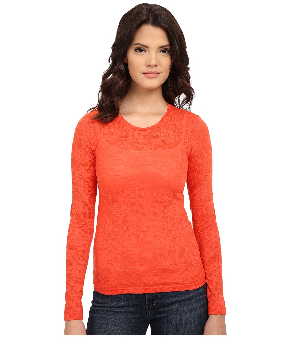 Ariat - Mojave Baselayer (Red Coral) Women's Long Sleeve Pullover
