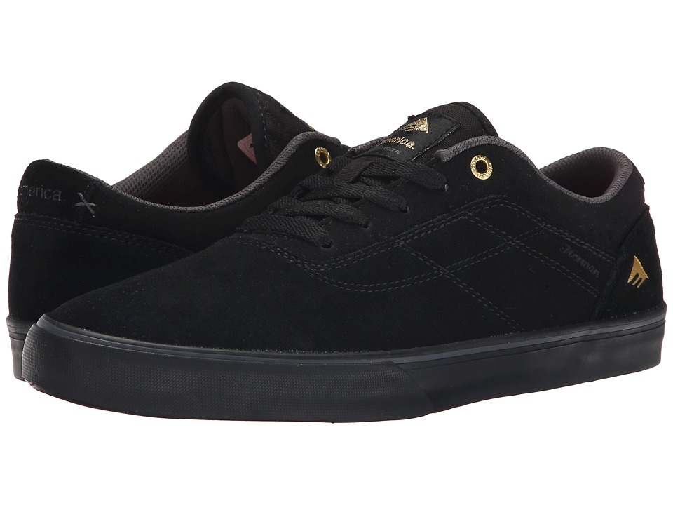 Emerica - The Herman G6 Vulc (Black/Black) Men's Skate Shoes