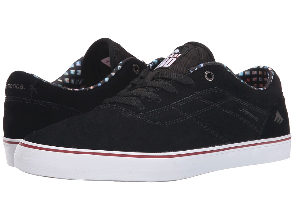 Emerica - Herman GX Vulc x Skateline (Black Suede) Men's Skate Shoes