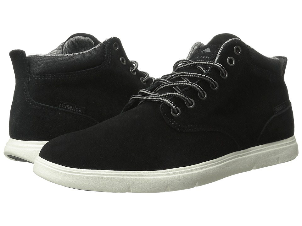 Emerica - Wino Hi LT (Black/White) Men's Skate Shoes