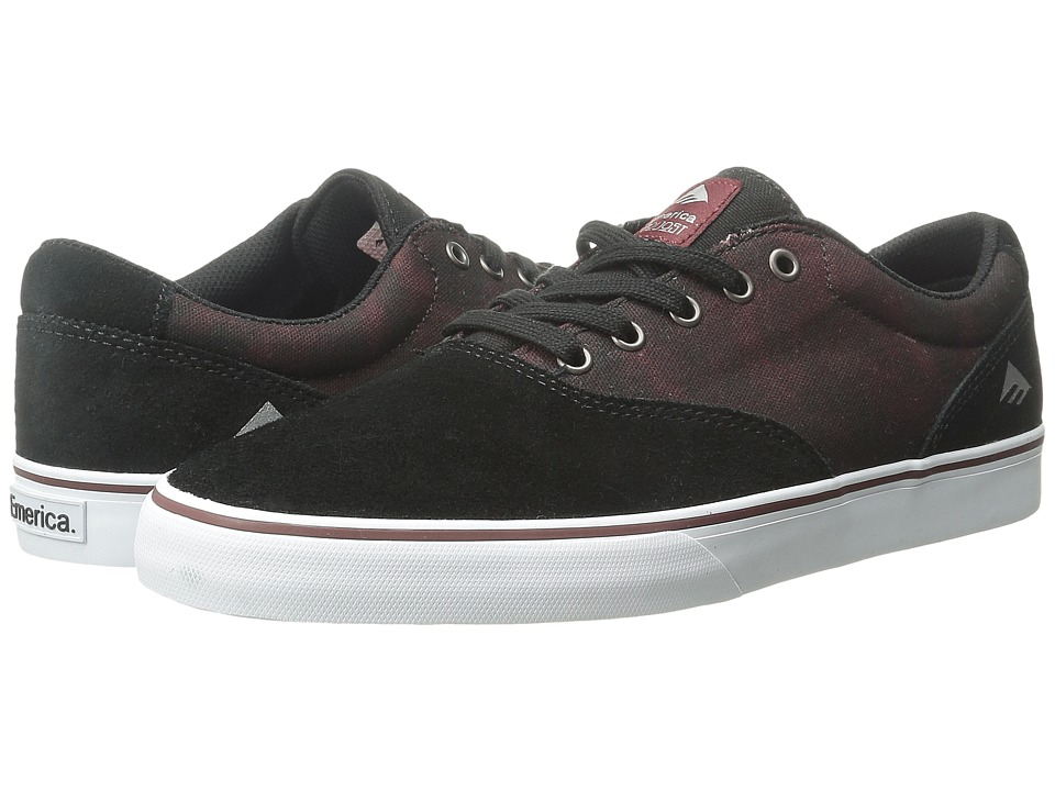 Emerica - The Provost Slim Vulc (Black/White/Burgundy) Men