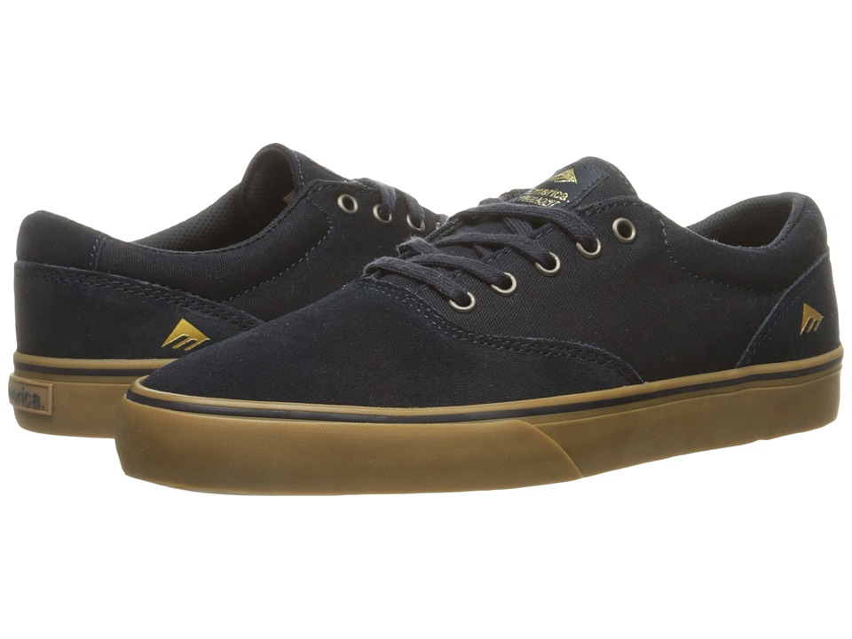 Emerica - The Provost Slim Vulc (Navy/Gum) Men's Skate Shoes