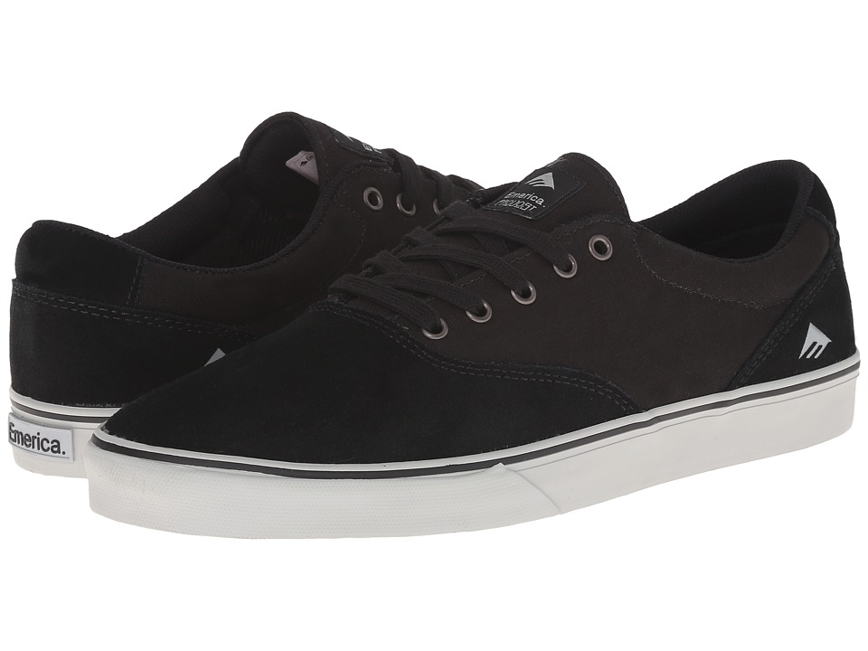 Emerica - The Provost Slim Vulc (Black/Grey) Men's Skate Shoes