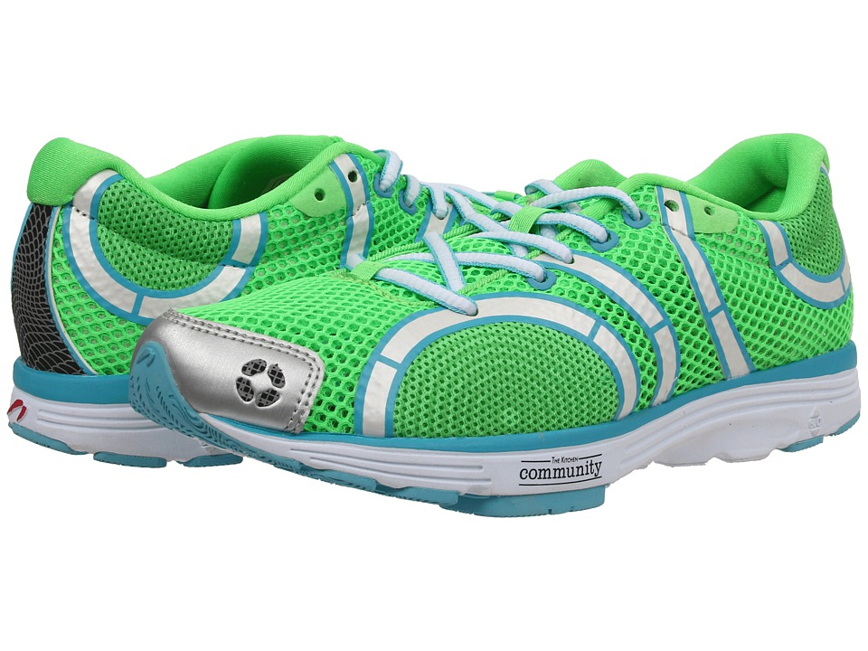 Newton Running - The Learning Garden Shoe (Lime/Blue) Women's Shoes
