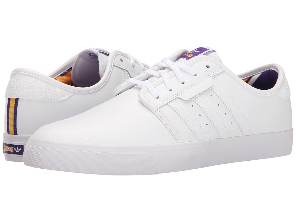 adidas Skateboarding - Seeley - NBA (White/Gold/Regal Purple) Men's Skate Shoes