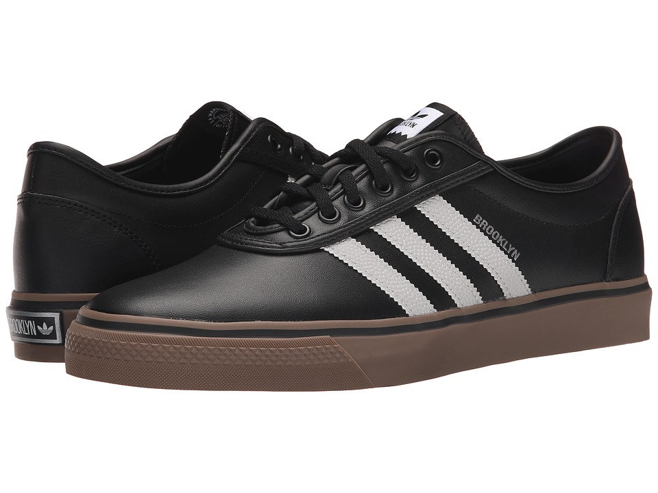 adidas Skateboarding - Adi-Ease X - NBA (Black/Solid Grey/Silver Metallic) Men's Skate Shoes