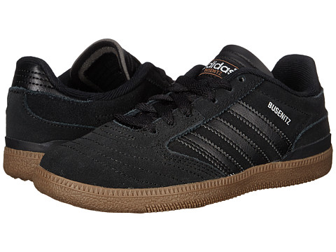 adidas Skateboarding - Busenitz J (Little Kid/Big Kid) (Black/Silver Metallic/Gum) Men