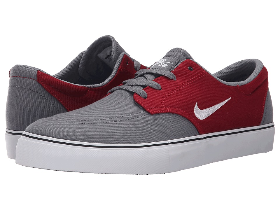 Nike SB - Clutch (Cool Grey/Gym Red/Black/White) Men's Skate Shoes
