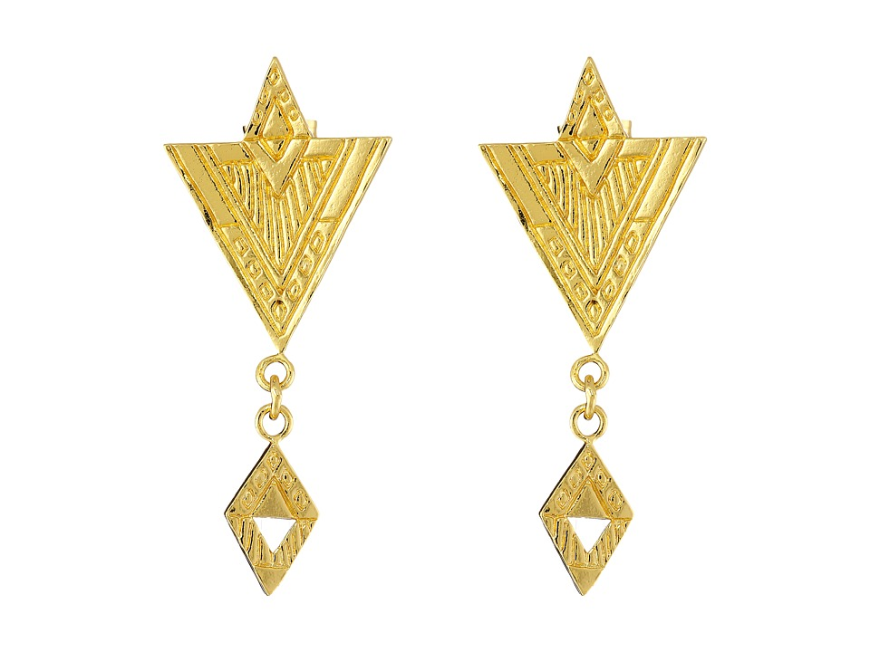 gorjana - Shae Drop Earrings (Gold) Earring